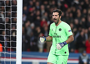 Gianluigi Buffon of Paris Saint-Germain celebrates during the Champions League group stage match between Paris Saint-Germain and Liverpool at Parc des Princes, Paris, France on 28 November 2018.
