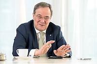 27 NOV 2020, BERLIN/GERMANY:<br /> Armin Laschet, CDU, Ministerpraesident Nordrhein-Westfalen, waehrend einem Interview, Landesvertretung Nordrhein-Westfalen<br /> IMAGE: 20201127-01-026