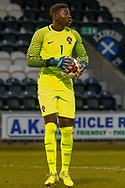 Portugal Keeper Samuel Soares during the U17 European Championships match between Portugal and Scotland at Simple Digital Arena, Paisley, Scotland on 20 March 2019.