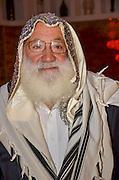 Mature Jewish man wrapped in a Tallis