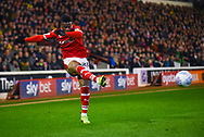 Mamadou Thiam of Barnsley (26) crosses the ball during the EFL Sky Bet League 1 match between Barnsley and Sunderland at Oakwell, Barnsley, England on 12 March 2019.