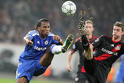 23.11.2011, BayArena, Leverkusen, Germany, UEFA CL, Gruppe E, Bayer 04 Leverkusen (GER) vs Chelsea FC (ENG), im Bild Didier Drogba (Chelsea #11) gegen Lars Bender (Leverkusen #8) // during the football match of UEFA Champions league, group E, between Bayer Leverkusen (GER) and FC Chelsea (ENG) at BayArena, Leverkusen, Germany on 2011/11/23.EXPA Pictures © 2011, PhotoCredit: EXPA/ nph/ Mueller..***** ATTENTION - OUT OF GER, CRO *****