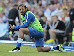 Inigo Calderon of Brighton & Hove Albion warms up on the sidelines during the match - Mandatory byline: Paul Terry/JMP - 07966386802 - 07/08/2015 - FOOTBALL - Falmer Stadium -Brighton,England - Brighton v Nottingham Forest - Sky Bet Championship