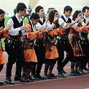 Trabzonspor's and Denizlispor's during their Turkish superleague soccer match Trabzonspor between Denizlispor at the Avni Aker Stadium in Trabzon Turkey on Monday, 10 May 2010. Photo by TURKPIX