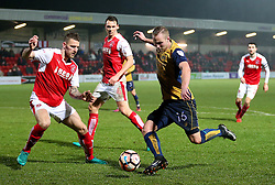 Gustav Engvall of Bristol City fires a shot at goal  - Mandatory by-line: Matt McNulty/JMP - 17/01/2017 - FOOTBALL - Highbury Stadium - Fleetwood,  - Fleetwood Town v Bristol City - Emirates FA Cup Third Round Replay