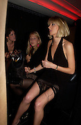 Laura Myers, Lady Ella Windsor and Emily Compton, Opening of Floridita, Wardour St. London. 21 October 2004. ONE TIME USE ONLY - DO NOT ARCHIVE  © Copyright Photograph by Dafydd Jones 66 Stockwell Park Rd. London SW9 0DA Tel 020 7733 0108 www.dafjones.com