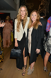 Left to right, HUM FLEMING and LOTTY BENNETT at She Inspires Art in aid of Women for Women International's work, held at Bonham's, 101 New Bond Street, London on 16th September 2015.