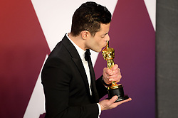 "Rami Malek, winner of the Best Actor In A Leading Role Award for ""Bohemian Rhapsody"" at the 91st Annual Academy Awards"