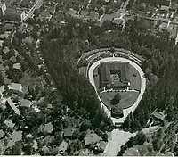 1918 Aerial of the Bernheimer Residence. Now Yamashiro Restaurant in Hollywood