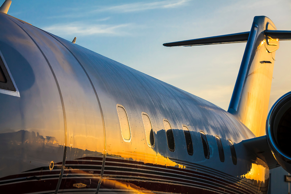 A Bombardier Challenger 605 on the ramp at Opa-locka Executive Airport.  Commissioned as advertising for Phillips 66 Aviation Fuels.  <br />