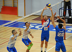 Nikola Jovovic of Serbia during friendly volleyball match between National teams of Serbia and Slovenia, on August 18, 2017, in Belgrade, Serbia. Photo by Nebojsa Parausic / MN press / Sportida
