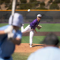 Marc Rios pitches for the Miyamura Patriots against the Goddard Rockets Tuesday morning in Gallup.