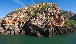 Stunning rock formations in Cyclone Creek, Talbot Bay.