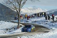 MONTE CARLO RALLY, 20030125, <br />  PETTER SOLBERG - PHILL MILLS / SUBARU IMPREZA WRC - ACTION<br /> PHOTO : FREDERIC LE FLOC H / DIGITALSPORT