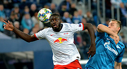 November 5, 2019, St. Petersburg, Russia: Russia. St. Petersburg. November 5, 2019. FC Leipzig FC players Dayot Upamekano and FC Zenit Artem Dziuba (left to right) in the UEFA Champions League group stage match between the teams Zenit (St. Petersburg, Russia) and RB Leipzig  (Credit Image: © Andrey Pronin/ZUMA Wire)