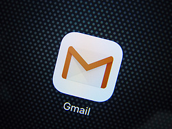 Detail of Gmail icon for app on an iPhone