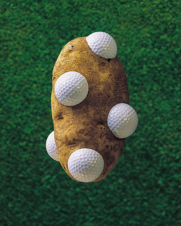 Edition of 49 includes all sizes<br /> Potato Still Life - Golf Idaho. From the Potato Series.<br /> Larger digital file available.