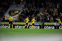 Fotball , 14. Mars , Sør Arena , Tippeligaen , Start - Sandefjord , Start spillerne jubler etter 2-0 scoringen Clarence Goodson (L) Geir Ludvig Fevang (3R) Christer Kleiven (2R) Hunter Freeman (R)