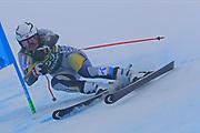 SOELDEN, AUSTRIA. OCTOBER 17 2020:  1st Women's Giant Slalom as part of the Alpine Ski World Cup in Solden on October 17, 2020; Run 1, Andrine Maarstoel (NOR) ( Pierre Teyssot/ESPA Images-Image of Sport)