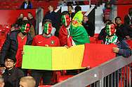 Portugal fans pose with a sign saying 'The King Returns' - Argentina vs. Portugal - International Friendly - Old Trafford - Manchester - 18/11/2014 Pic Philip Oldham/Sportimage