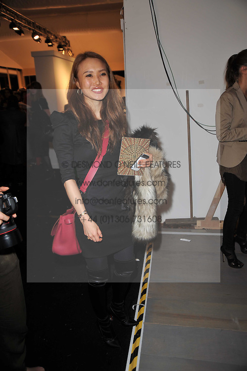 YUKI WILPON at the Issa Autumn Winter 2011 fashion show as part of the London Fashion Week held at Somerset House, Strand, London on 19th February 2011.