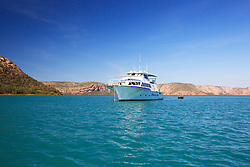 SPV Kimberley Escape in Dugong Bay in the Kimberley coast's Buccaneer Archipelago.
