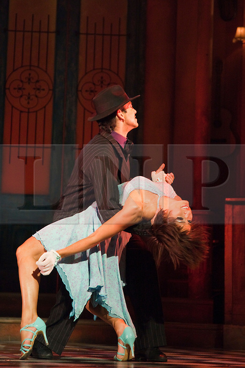 """© Licensed to London News Pictures. 30/01/2012. London, England. Flavia Cacace dancing with Giraldo Diomar. """"Midnight Tango"""" with """"Strictly Come Dancing"""" Stars Flavia Cacace and Vincent Simone opens at the Aldwych Theatre, London. Photo credit: Bettina Strenske/LNP"""