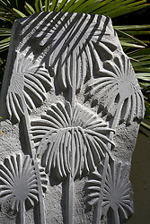 Carved stone monoliths