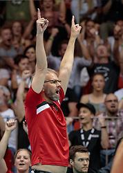 09.06.2017, TipsArena, Linz, AUT, FIVB, World League, Österreich vs Deutschland, Division III, Gruppe C, Herren, im Bild Trainer Michael Warm (AUT) // during the men's FIVB, Volleyball World League, Division III, Group C match between Austria and Germany at the TipsArena in Linz, Austria on 2017/06/09. EXPA Pictures © 2017, PhotoCredit: EXPA/ JFK