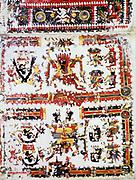 Pre-Columbian Mexico: Mixtec, Codex Borgianus showing confronting deities. Vatican Museum, Rome: 12th-16th centuries