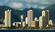 27 December 2012-Honolulu, HI: A Picific ocean view of Waikiki Beach in Honolulu, Hawaii.  Photo by Rod Rolle