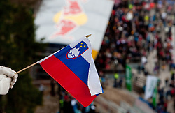 Slovenian flag during Flying Hill Individual at 2nd day of FIS Ski Jumping World Cup Finals Planica 2011, on March 18, 2011, Planica, Slovenia. (Photo by Vid Ponikvar / Sportida)