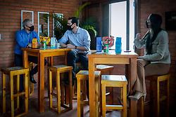 O presidente da Federasul, Anderson Trautman Cardoso durante visita a Casa da Federasul na Expointer 2021 FOTO: Jefferson Bernardes/ Agência Preview