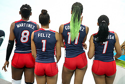 Players of Dominican Republic during the volleyball match between National team of Slovenia and Dominican Republic in Preliminary Round of Womens U23 World Championship 2017, on September 11, 2017 in SRC Stozice, Ljubljana, Slovenia. Photo by Morgan Kristan / Sportida