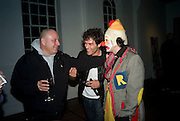 NICK WAPLINGTON,  BARRY REIGATE AND NICK HACKWORTH, Happiness- Private view of work by Barry Reigate. Paradise Row, London and afterwards at Mark hix's new restaurant. Hix Oyster and Chop House, 37-37 Greenhill Rents, Cowcross St, EC1. 14 March 2008. <br />
