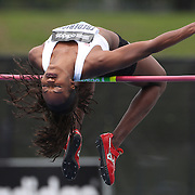 Priscilla Frederick, USA, in action during the Women's High Jump event at the Diamond League Adidas Grand Prix at Icahn Stadium, Randall's Island, Manhattan, New York, USA. 25th May 2013. Photo Tim Clayton