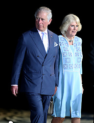 The Prince of Wales and the Duchess of Cornwall during the Opening Ceremony for the 2018 Commonwealth Games at the Carrara Stadium in the Gold Coast, Australia.