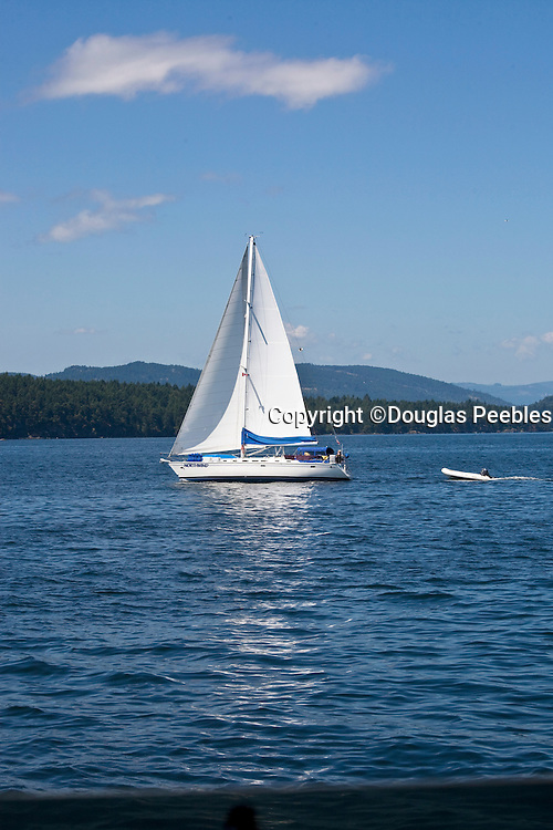 Sailing, Gulf Islands, Vancouver Island, British Columbia, Canada