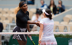 May 30, 2019 - Paris, FRANCE - Serena Williams of the United States in action during the second-round at the 2019 Roland Garros Grand Slam tennis tournament (Credit Image: © AFP7 via ZUMA Wire)