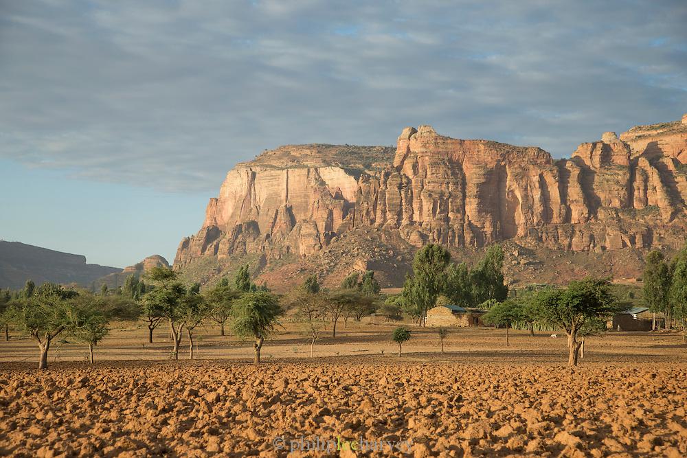 Mountain Landscape near Hawzen, Gheralta area, Tigray, Ethiopia, Horn of Africa