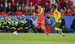 WANG Shanshan (CHN), Noko MATLOU (RSA) in action during the match of 2019 FIFA Women's World Cup France group B match between South Africa and China, at Parc Des Princes stadium on June 13, 2019 in Paris, France. Photo by Loic Baratoux/ABACAPRESS.COM
