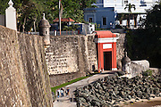 San Juan Gate along the Paseo de la Princesa Old San Juan, Puerto Rico.