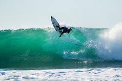 Wiggolly Dantas (BRA) is eliminated from the 2018 Coronna Open J-Bay with an equal 13th finish after placing second in Heat 6 of Round 3 at Supertubes, Jeffreys Bay, South Africa.