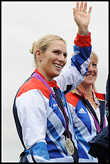 Zara Phillips at Burghley Horse Trials 2-9-12