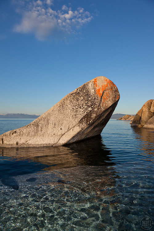 """""""Boulders on Lake Tahoe 26"""" - These boulders were photographed in the early morning near Speedboat Beach, Lake Tahoe."""