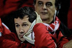 Torcedor colorado na partida entre o Internacional do Brasil e o Independiente, da Argentina, válida pela final da Recopa Sulamericana 2011, no Estadio Beira Rio, em Porto Alegre. FOTO: Jefferson Bernardes/Preview.com