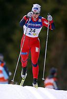 Langrenn, 12. desember 2003, Verdenscup herrer 15 kilometer klassisk, Davos,<br /> Marit Bjørgen (NOR) ,<br /> Foto: Andy Mueller/Digitalsport