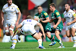 Leicester Tigers scrum half David Mele goes on the attack - Photo mandatory by-line: Patrick Khachfe/JMP - Tel: Mobile: 07966 386802 - 08/09/2013 - SPORT - RUGBY UNION - Welford Road Stadium - Leicester Tigers v Worcester Warriors - Aviva Premiership.