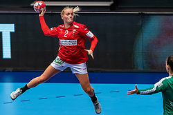 Laerke Nolsoe Pedersen of Denmark in action during the Women's EHF Euro 2020 match between Denmark and Sweden at Jyske Bank BOXEN on december 11, 2020 in Kolding, Denmark (Photo by RHF Agency/Ronald Hoogendoorn)