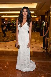 Farah Sattaur at The Asian Awards, The Hilton Park Lane, London England. 5 May 2017.<br /> Photo by Dominic O'Neill/SilverHub 0203 174 1069 sales@silverhubmedia.com